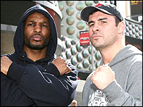 Bernard Hopkins (left) and Joe Calzaghe