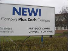 NEWI campus sign