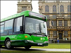 Ecolink bus outside Wollaton Hall
