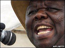 MDC leader, Morgan Tsvangirai, 2008