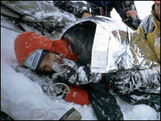Mike Pescod lying injured (Pic: Mick Tighe)