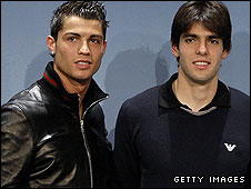Cristiano Ronaldo and Kaka