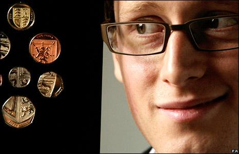 Coins designer Matthew Dent