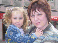 Tracey and daughter