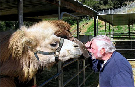 Mike Catrarelly kissing camels