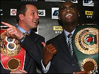 Clinton Woods (left) and Antonio Tarver