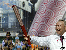 Olympic torch in Kazakhstan