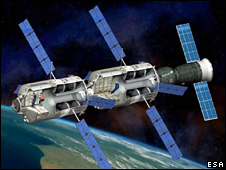 Artist's concept of European space station (Esa)