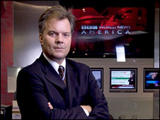 Matt Frei in the BBC World News America studio