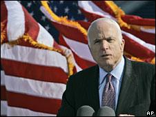 John McCain in Annapolis, 2 April 2008