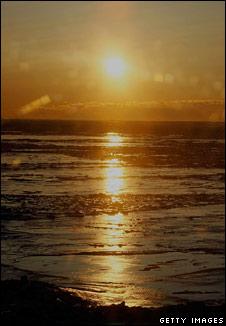 Sun on ice. Image: Getty
