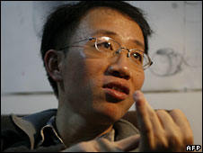 Hu Jia at his home in Beijing in 2007