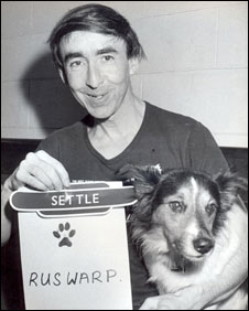 Graham Nuttall with dog Ruswarp