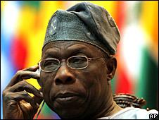 Former Nigerian President Olusegun Obasanjo, 2005