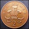 Old two pence piece