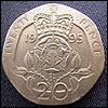 Old twenty pence piece