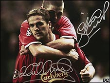 Faked signatures of Michael Owen and Steven Gerrard