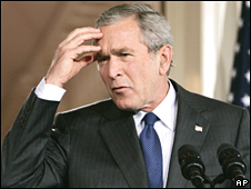 George W Bush (file pic)
