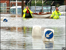 Flooding at Toll Bar in Yorkshire in 2007