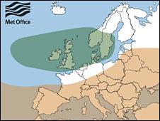 Europe summer weather map (Met Office)