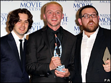 Edgar Wright and Simon Pegg with Nick Frost