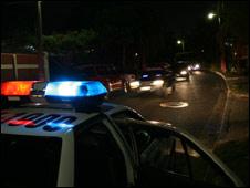 A police patrol in San Salvador