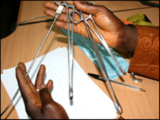 Instruments used in illegal abortions