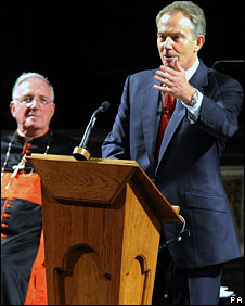 Tony Blair at Westminster Cathedral