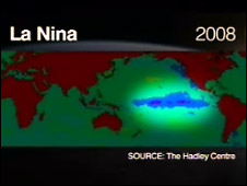 La Nina 2008 Forecast (Source: UK Met Office Hadley Centre)