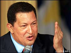 Venezuelan President Hugo Chavez