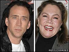 Nicolas Cage and Kathleen Turner