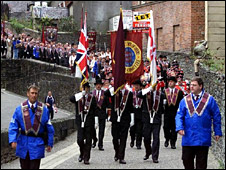 Apprentice Boys marching in Londonderry