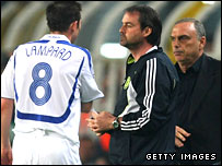 Frank Lampard is taken off against Fenerbache