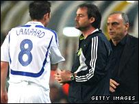 Frank Lampard is taken off against Fenerbache