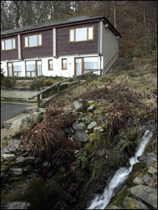 Part of the Bala Lake Hotel