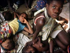 Children in a slum in Angola