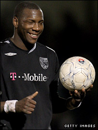 West Brom striker Ishmael Miller