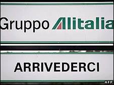 Alitalia sign
