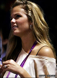 Roddick's fiancee Brooklyn Decker