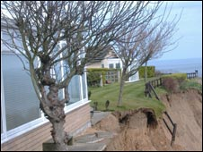 Knipe Point land slip. Picture courtesy Radio York