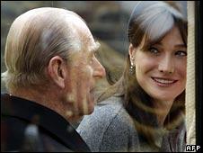 Prince Philip with Carla Sarkozy