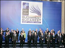 NATO heads of states and governments pose for a family picture