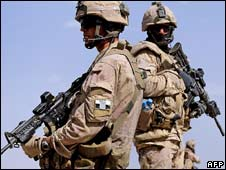 Canadian soldiers with the NATO-led International Security Assistance Force in Afghanistan