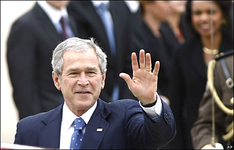 George W Bush in Croatia on 4 April 2008