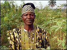 Local farmer Chief Tola Adepomona (Image: BBC)