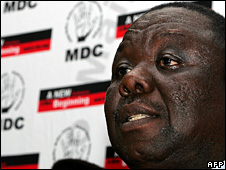 Morgan Tsvangirai (1 April 2008)