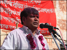 Krishna Bahadur Mahara speaks in Gadhuwa