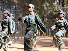 Maoist fighters in Sakram