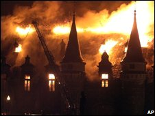 Quebec armoury on fire