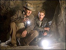 Harrison Ford and Shia LaBeouf in The Kingdom of the Crystal Skull